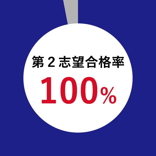 第2志望合格率100%