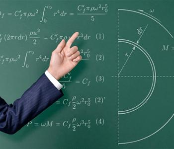 数学を教える講師の手