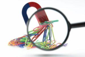 磁石と虫眼鏡