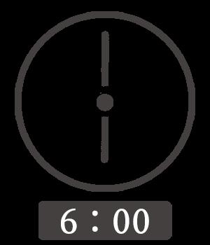6時00分の秒針