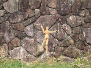 壁を登るイメージ