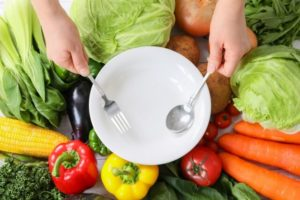 野菜を食べるイメージ