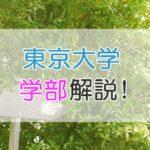 東京大学の多彩な【学部】を解説!主な進路を知って希望の職業へ
