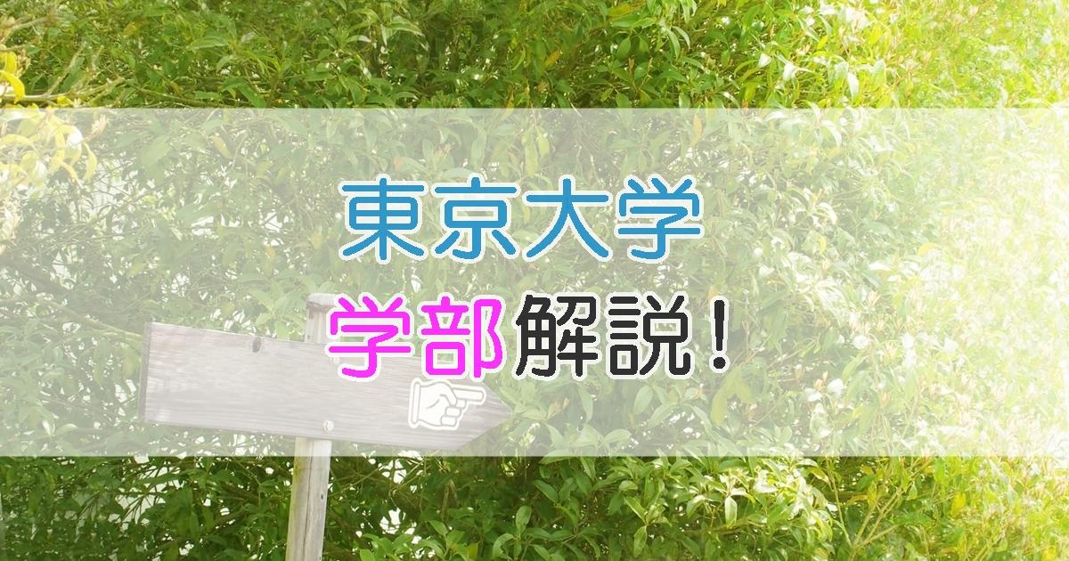 東京大学 学部解説!
