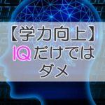 【学力向上】IQだけではダメ