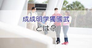 成成明学獨國武とは?