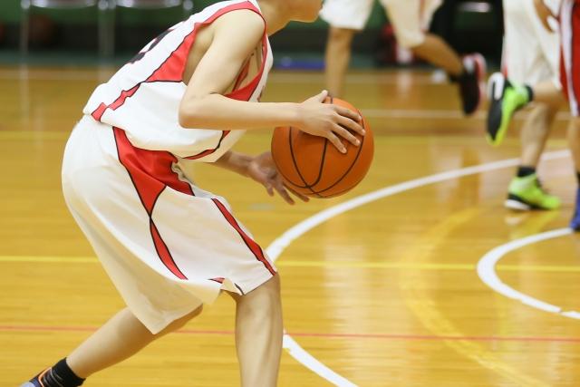 バスケ部の練習風景